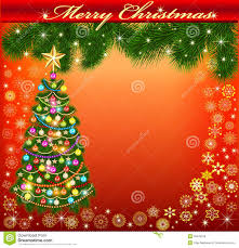 background frame with a christmas tree royalty free stock photos