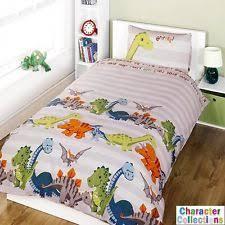 Dinosaur Single Duvet Set Dinosaur Single Duvet Set Blue Bedding Quilt Pillow Bedroom Kids