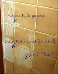 How To Paint Ceramic Tile In Bathroom To Prime Tile For Painting Use Zinsser Oil Based Primer Paint
