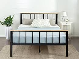 Wood And Metal Bed Frame Zinus Contemporary Metal And Wood Platform Bed With