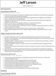 sample barista resume retail pharmacy technician resume sample resume template job pharmacy technician job description for resume student