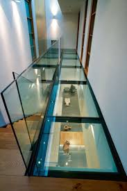 Stairway Landing Decorating Ideas by The 25 Best Glass Stairs Ideas On Pinterest Modern Stairs