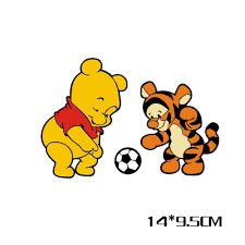 car styling winnie the pooh and tiger play football cartoon