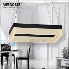 modern led rectangle chandelier pendant light fixture gold dining
