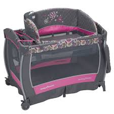 Pink And Brown Graco Pack N Play With Changing Table Pack N Play Pink Paisley Playard When The Day Comes Pinterest