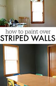 how to paint over stripes with different finishes u2014 decor and the dog