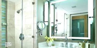 Magnifying Bathroom Mirror With Light Wall Mounted Lighted Magnifying Bathroom Mirror Vanity Mirror Wall