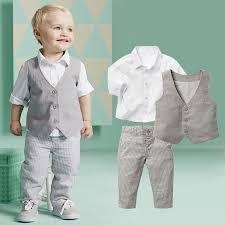wedding clothes 2015 boys clothing sets autumn shirt vest boys