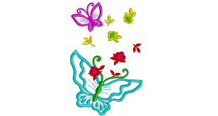 butterfly embroidery design 033 free machine embroidery