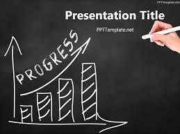 free progress chalk hand black ppt template business ppt