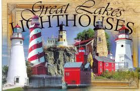 Michigan Lighthouse Map by Great Lakes Lighthouses Remembering Letters And Postcards