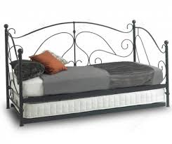 sareer milano milano black metal day bed with trundle