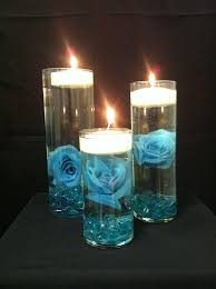teal wedding decorations awesome floating candle wedding centerpiece floating candle