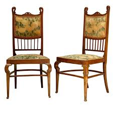 Art Deco Dining Room Table by Set Of Six Art Nouveau Dining Chairs France Early 1900s At 1stdibs