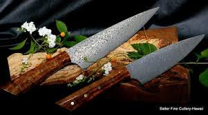 handcrafted kitchen knives individual chef knives just made in our workshop salter cutlery