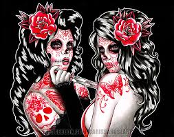 5x7 8x10 or 11x14 in signed print day of the dead
