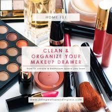 how to clean u0026 organize your makeup drawer easy junk drawer cleanup