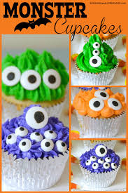 Halloween Cakes Easy To Make by Monster Halloween Cupcakes