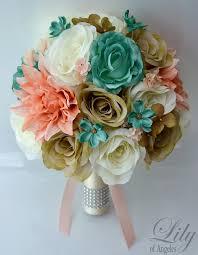 Teal Corsage 17 Piece Package Wedding Bridal Bride Maid Of Honor Bridesmaid