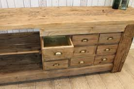 Sideboard For Kitchen Large Rustic Sideboard With Vice