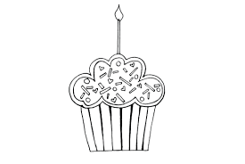 cute happy birthday cupcake coloring pages birthday coloring