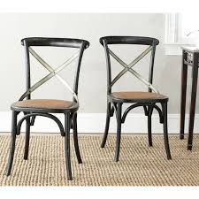 safavieh country classic dining eleanor black x back dining chairs