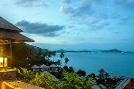 thailand island samui palm rock ocean gulf sky beach lamp house
