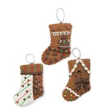 gingerbread ornaments set of 3 shelley b home