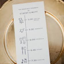 Modern Wedding Program Wedding Program Gallery Weddinggawker