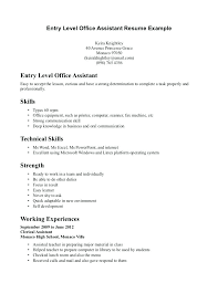 resume exles for beginners beginners resume template entry level assistant resume