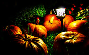 halloween pumpkins and a night light widescreen wallpaper wide