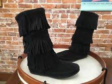 womens fringe boots size 11 suede s fringe us size 9 ebay