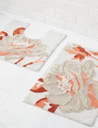 floral bath mat m u0026s
