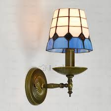 Mediterranean Wall Sconces Mediterranean Style Blue And White Glass Tiffany Wall Sconces