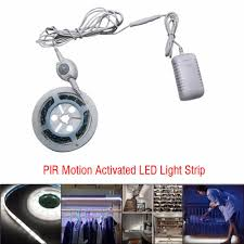 motion activated led light strip flexible smart pir motion sensor activated led strip light warm