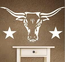 Texas Longhorns Home Decor Amazon Com Stencils For Walls Longhorn Stencil Size 9 25