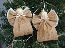 angel christmas ornaments kraft paper ribbon angel tree ornaments