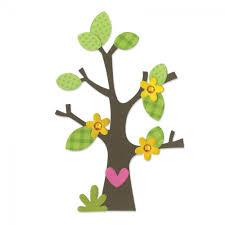 sizzix bigz die tree w flower leaves trees and