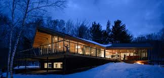 three pronged glass house rises in vermont curbed