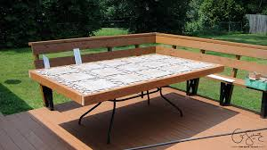 Glass Patio Table Top Our Custom Patio Table Madness U0026 Method