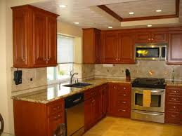red kitchen walls with oak cabinets home decorating interior