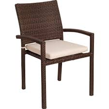 Stackable Plastic Patio Chairs Atlantic Liberty 4 Person Resin Wicker Patio Dining Set With Glass