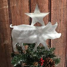 pig christmas tree topper wreath decoration holiday