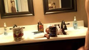 do it yourself bathroom cabinet stain remodel step by step youtube