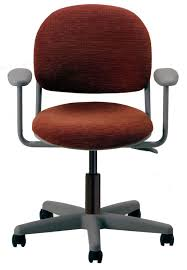 office chair on casters with armrests pneumatic torsion ki