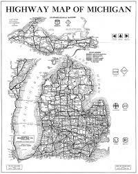 Map Upper Peninsula Michigan by Michigan 1920 U0027s Hi Way Map This One Is Definitely One That U2026 Flickr