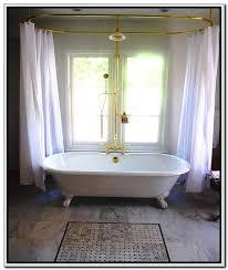 clawfoot tub shower curtain frame clawfoot tub shower curtain is