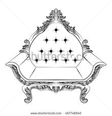 sofa furniture luxurious ornament baroque style stock vector