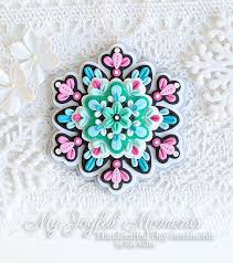 handcrafted polymer clay snowflake medallion ornament polymer clay