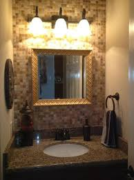 Half Bathroom Remodel Ideas Half Bathroom Glass Tile Granite Countertop Inside Of House
